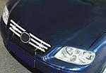 Volkswagen Polo 2001-2009 рр. Накладки на решітку (нерж) 2001-2003