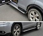 Subaru Forester 2013-2018 рр .. Бічні підніжки Оригінал (2 шт, алюміній)
