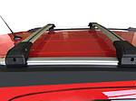 Mercedes GLA X156 2014-2019 рр. Поперечний багажник на інтегровані рейлінги під ключ (2 шт) Сірий