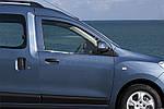 Dacia Dokker 2013↗ рр. Окантовка вікон (2 шт., нерж.) OmsaLine - Італійська нержавійка