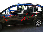 Volkswagen Touran 2003-2010 рр. Зовнішня окантовка вікон (8 шт, нерж) Carmos - Турецька сталь