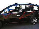 Volkswagen Touran 2003-2010 рр. Зовнішня окантовка вікон (8 шт, нерж) OmsaLine - Італійська нержавійка