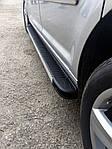 Volkswagen Amarok Бічні пороги Maya V1 (2 шт., алюм.)