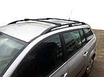 Renault Megane II 2004-2009 рр. Перемички на рейлінги під ключ (2 шт) Чорний