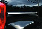 Молдинг під двері зрушення (2 шт, нерж.) Carmos - Турецька сталь для Peugeot Bipper (2008↗)