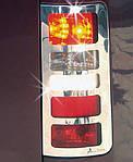 Ford Connect 2010-2014 рр. Накладки на стопи варіант №3 (2 шт., нерж) OmsaLine - Італійська нержавійка