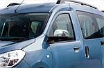 Dacia Dokker 2013↗ рр. Накладки на дзеркала (2 шт., нерж.) OmsaLine - Італійська нержавійка