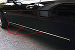 Mercedes C-Klass W204 Накладки на дверні молдинги (нерж)