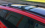 Renault Velsatis 2006↗ рр. Перемички на рейлінги без ключа (2 шт) Сірий