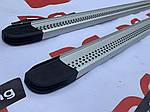 Nissan Navara 2006-2015 рр. Бічні пороги Maya V2 (2 шт., алюміній)