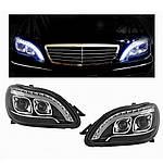 Передняя оптика LED (2 шт) для Mercedes S-сlass W220