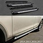 BMW X3 F-25 2011-2018 рр .. Оригінальні пороги V2 (2 шт, алюміній)