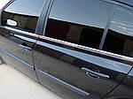 Renault Megane II 2004-2009 рр. Зовнішня окантовка вікон (4 шт, нерж) HB, Carmos - Турецька сталь