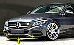 Mercedes C-Klass W205 Накладка на бампер (нерж)