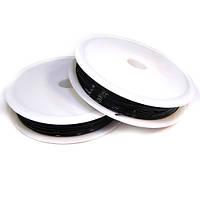 Нить силиконовая, черная, 0,8 мм