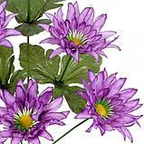 Искусственные цветы букет астры шелковые, 36см, фото 2
