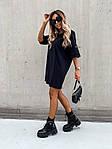 Женское платье, турецкая двунить, р-р С-М; М-Л (чёрный), фото 3