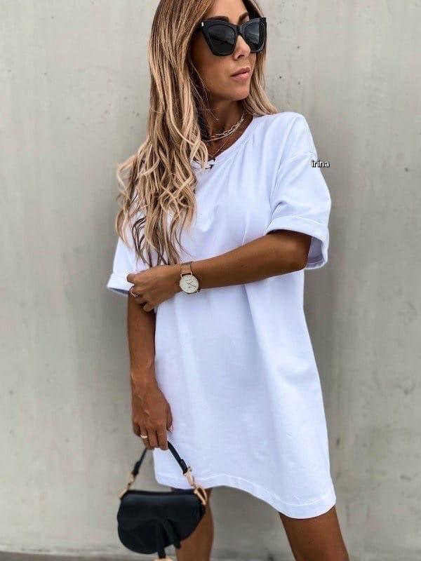Женское платье, турецкая двунить, р-р С-М; М-Л (белый)