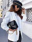 Жіночий піджак, креп - костюмка класу люкс, р-р С-М; М-Л (білий), фото 2