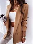 Жіночий піджак, креп - костюмка класу люкс, р-р С-М; М-Л (кемел), фото 2