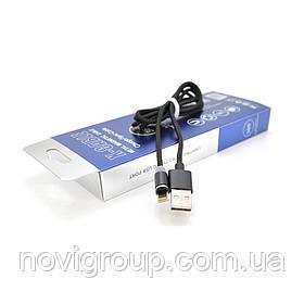 Магнітний кабель PiPo USB 2.0 /Type-C, 2m, 2А, тканинна оплетка, броньований, знімач, Silver, BOX