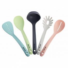 Набор кухонных принадлежностей с подставкой 5 предметов нейлоновые Kamille KM-5237