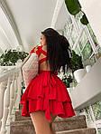 Жіноче плаття, трикотаж - рубчик, р-р 42-44; 44-46 (червоний), фото 3