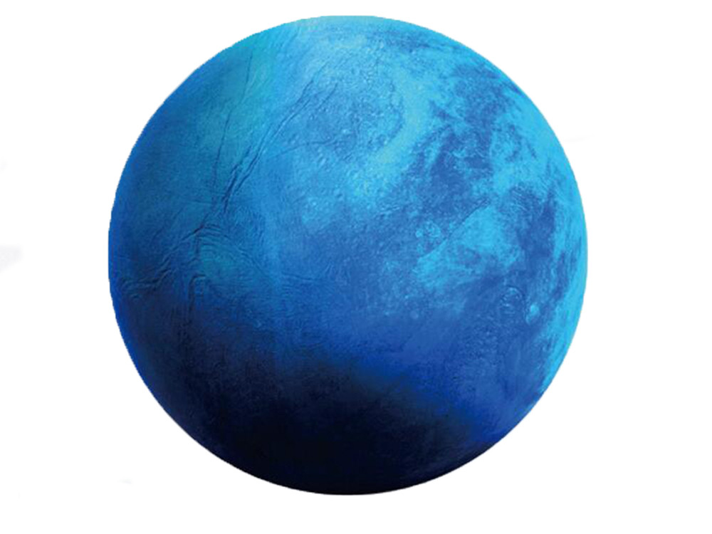 Наклейка стикер 3D светящийся Нептун