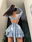 Женское платье, трикотаж - рубчик, р-р 42-44; 44-46 (голубой), фото 3