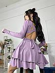 Жіноче плаття, трикотаж - рубчик, р-р 42-44; 44-46 (фіалка), фото 2