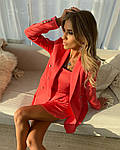 Женское платье + тренч, костюмка класса люкс, р-р 42-44; 44-46 (коралл), фото 2