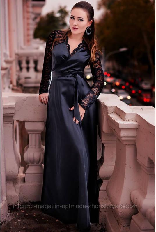 """Шикарне мерехтливе довга шовкова сукня """"Kathlyn"""""""