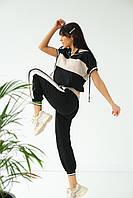 Спортивный костюм женский летний  PERRY - бежевый цвет, M (есть размеры), фото 1