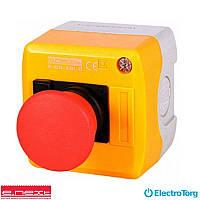 Кнопочный пост e.cs.stand.xal.d.115, stop, выпуклая кнопка, E-next