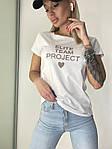 Жіноча футболка, коттон, р-р універсальний 42-46 (білий), фото 4