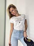 Жіноча футболка, коттон, р-р універсальний 42-46 (білий), фото 3