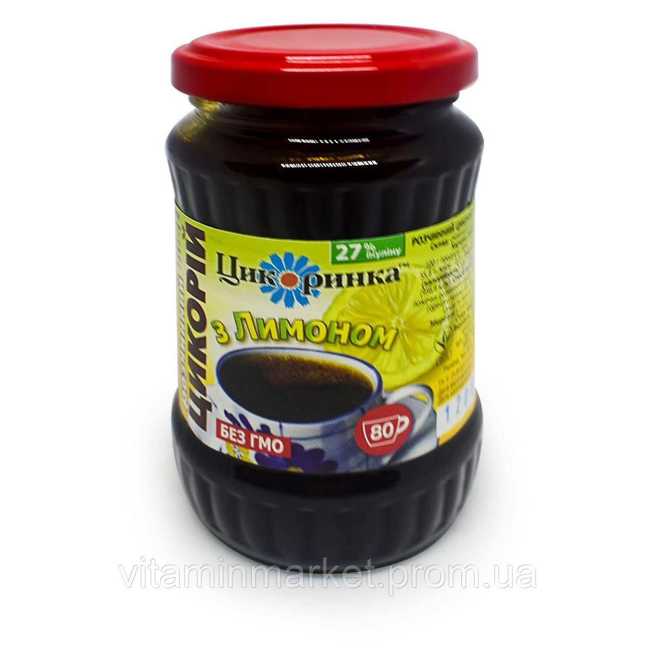 Цикорій розчинний, рідкий, з екстрактом лимона, «Цикоринка», 200 гр.