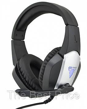 Ігрові навушники з мікрофоном Jedel GH-220 з підсвічуванням Black (6127)