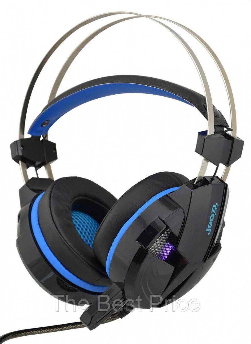 Игровые наушники с микрофоном Jedel GH-198 с подсветкой Black