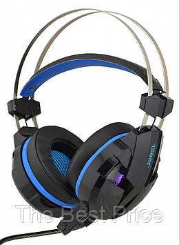 Ігрові навушники з мікрофоном Jedel GH-198 з підсвічуванням Black (6128)