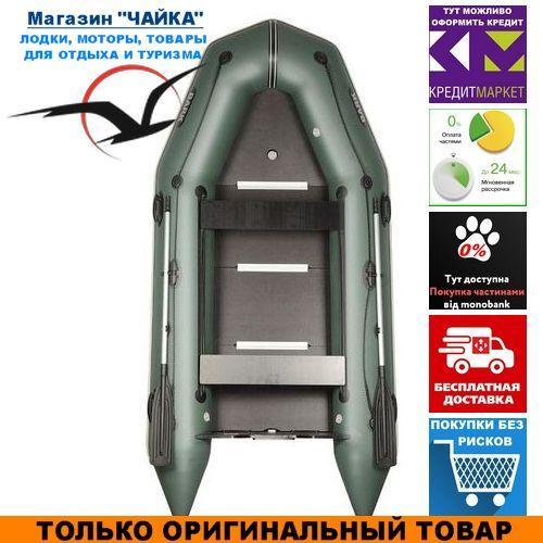 Лодка Bark BT-330SD. Моторная килевая; 3,30м, 4мест. 1100/1100ПВХ, Жесткий настил; Надувная лодка ПВХ Барк