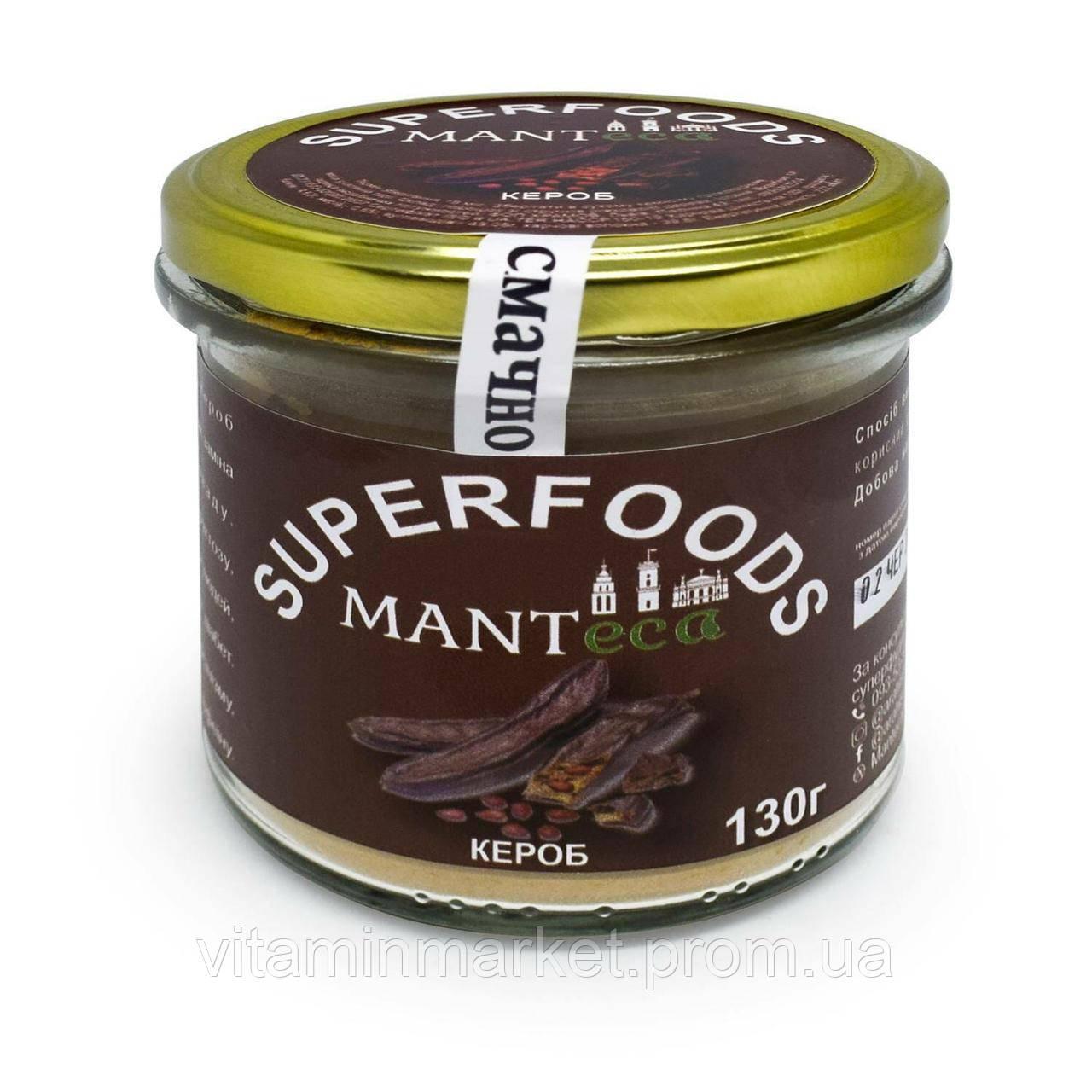 Кэроб темный Manteca сырой молотый 130 г