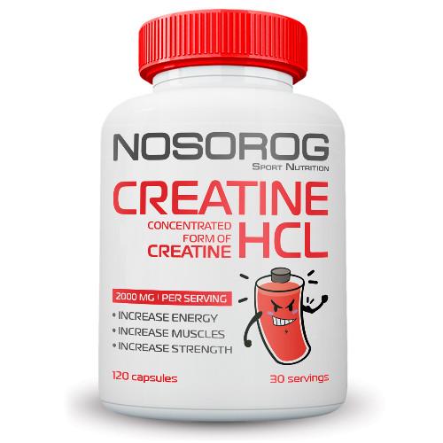 Nosorog Creatine HCl, 120 капсул