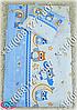 Детское постельное белье и защита (бортик) в детскую кроватку (сова голубой), фото 2