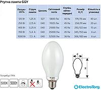 Ртутная лампа DELUX GGY 125Вт Е27