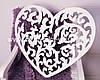 Декоративное сердце резное