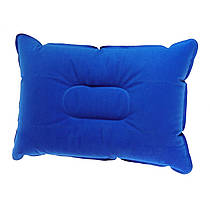 Надувная туристическая подушка для кемпинга синяя
