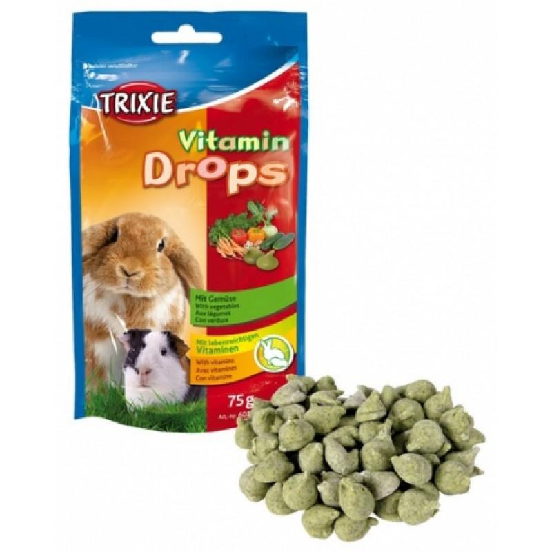 Витаминные дропсы с овощами для грызунов Vitamin-drops 75г, Trixie TX-6022