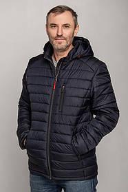 Весняна синя чоловіча куртка з плащової тканини з капюшоном, розмір 50, 52,53, 54, 56, 58