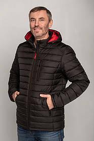Класична демісезонна непромокаємий чоловіча куртка з червоним капюшоном, розмір 50, 52, 53, 54, 56, 58